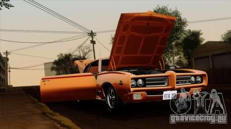 Pontiac GTO The Judge Hardtop Coupe 1969 для GTA San Andreas вид сзади слева