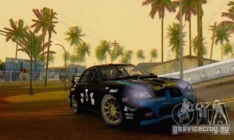 Subaru Impreza WRC STI Black Metal Rally для GTA San Andreas