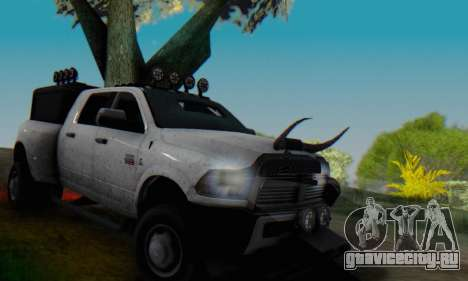 Dodge Ram 3500 Super Reforzada для GTA San Andreas вид сверху