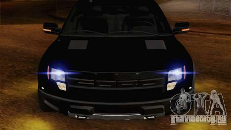 Ford F-150 SVT Raptor 2011 для GTA San Andreas вид сзади