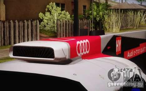 Audi R18 E-tron Quattro 2014 для GTA San Andreas вид сзади