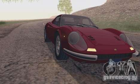 Ferrari Dino 246 GTS Coupe для GTA San Andreas вид справа