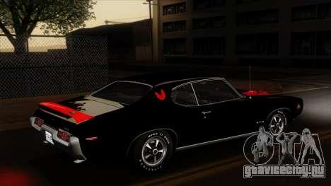 Pontiac GTO The Judge Hardtop Coupe 1969 для GTA San Andreas двигатель