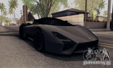 SSC Tuatara 2011 для GTA San Andreas вид слева