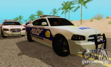 Pursuit Edition Police Dodge Charger SRT8 для GTA San Andreas вид сзади слева