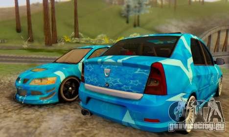 Dacia Logan Blue Star для GTA San Andreas вид сзади слева