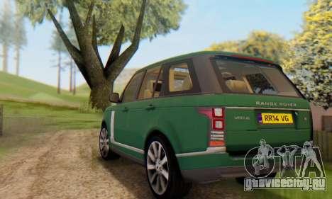 Range Rover Vogue 2014 V1.0 UK Plate для GTA San Andreas вид снизу