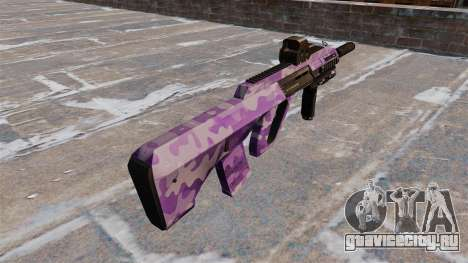 Автомат Steyr AUG-A3 Purple Camo для GTA 4 второй скриншот