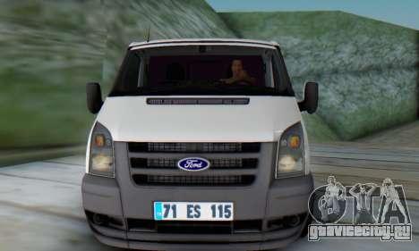 Ford Transit Pikap для GTA San Andreas вид слева