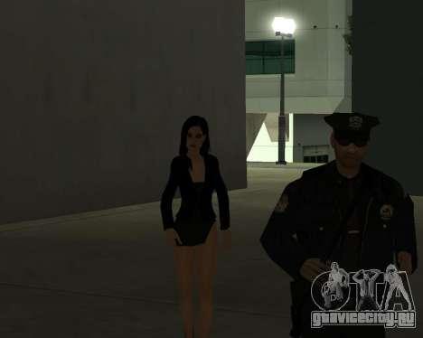 Black Dressed Girl для GTA San Andreas седьмой скриншот