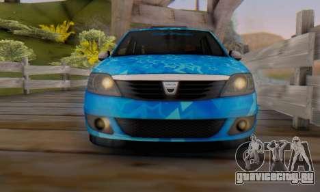Dacia Logan Blue Star для GTA San Andreas вид снизу