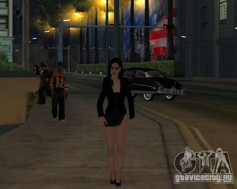 Black Dressed Girl для GTA San Andreas пятый скриншот