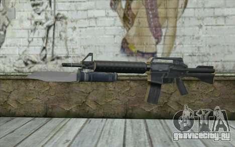 M4A1 со штыком для GTA San Andreas