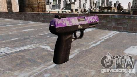 Пистолет FN Five-seveN Purple Camo для GTA 4 второй скриншот