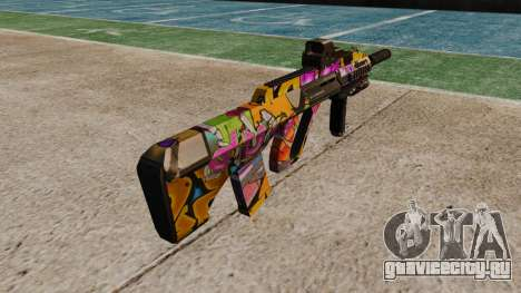 Автомат Steyr AUG-A3 Optic Graffitti для GTA 4 второй скриншот