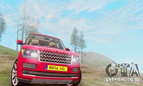 Range Rover Vogue 2014 V1.0 UK Plate для GTA San Andreas вид слева