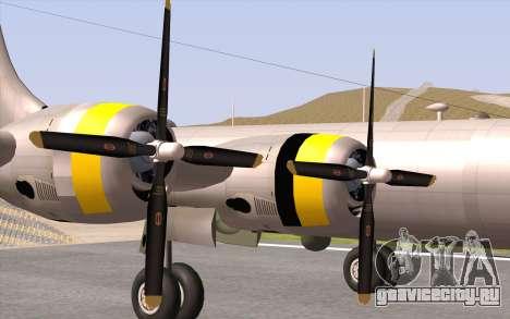 B-29A Superfortress для GTA San Andreas вид сзади