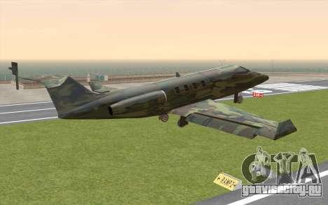 Camouflage Shamal для GTA San Andreas вид слева