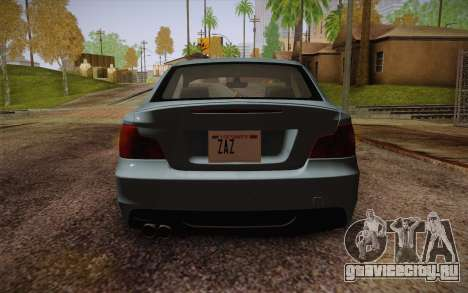 BMW 135i Limited Edition для GTA San Andreas вид изнутри