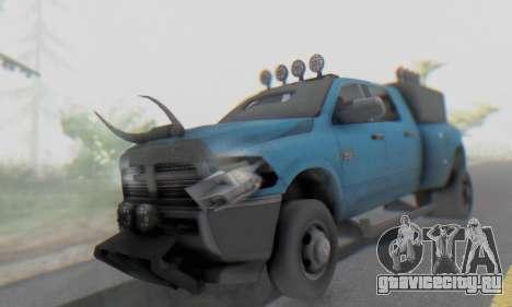 Dodge Ram 3500 Super Reforzada для GTA San Andreas вид изнутри