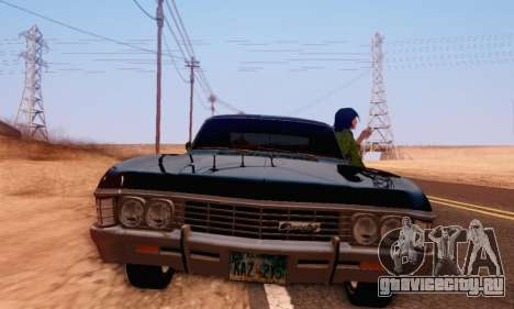 Chevrolet Impala 1967 Supernatural для GTA San Andreas вид сзади