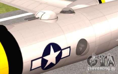 B-29A Superfortress для GTA San Andreas вид справа