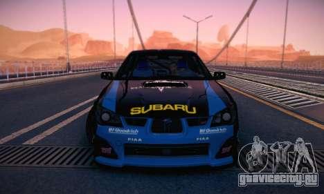 Subaru Impreza WRC STI Black Metal Rally для GTA San Andreas вид сверху