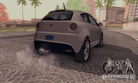 Afla Romeo Mito Quadrifoglio Verde для GTA San Andreas вид слева