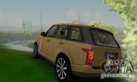 Range Rover Vogue 2014 V1.0 SA Plate для GTA San Andreas вид сзади слева