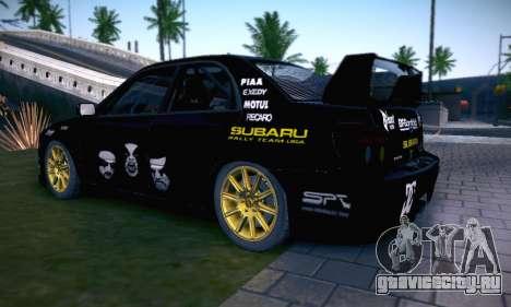 Subaru Impreza WRC STI Black Metal Rally для GTA San Andreas колёса