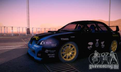 Subaru Impreza WRC STI Black Metal Rally для GTA San Andreas вид снизу