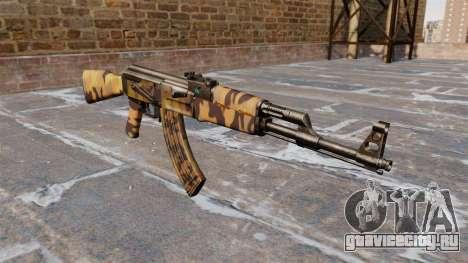 Автомат АК-47 Fall для GTA 4