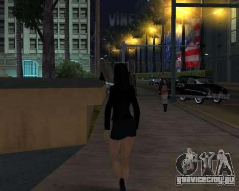 Black Dressed Girl для GTA San Andreas третий скриншот