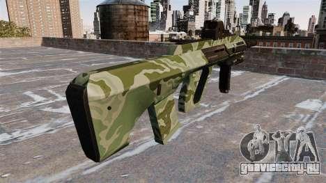 Автомат Steyr AUG-A3 Green Camo для GTA 4 второй скриншот