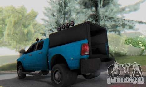 Dodge Ram 3500 Super Reforzada для GTA San Andreas вид справа