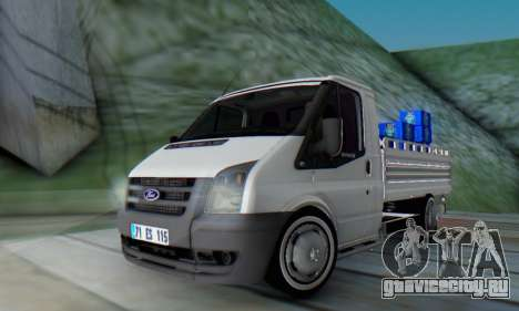 Ford Transit Pikap для GTA San Andreas вид сзади слева