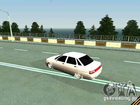 Ваз 2110-2170 для GTA San Andreas вид сзади слева