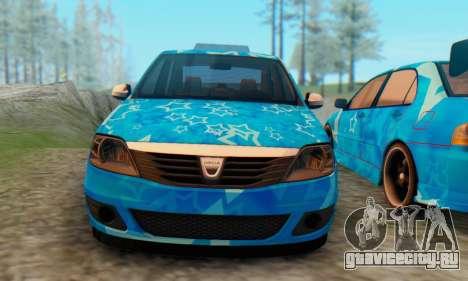 Dacia Logan Blue Star для GTA San Andreas вид сзади