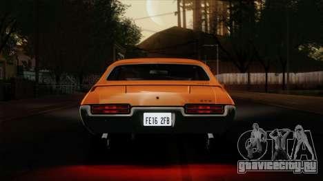 Pontiac GTO The Judge Hardtop Coupe 1969 для GTA San Andreas вид изнутри