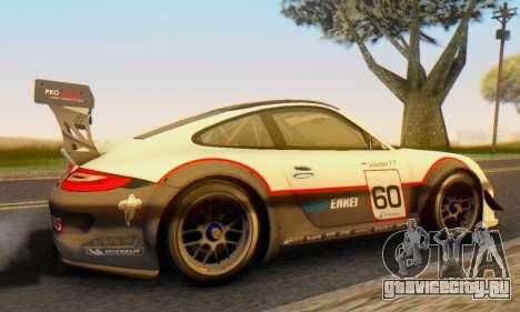 Porsche GT3 R 2009 для GTA San Andreas вид сзади слева