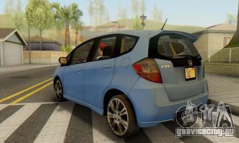 Honda Fit Stock 2009 для GTA San Andreas вид слева