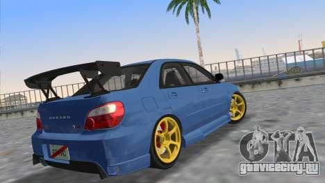 Subaru Impreza WRX STI 2005 для GTA Vice City вид слева