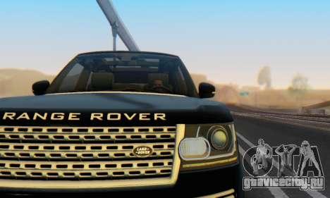 Range Rover Vogue 2014 V1.0 Interior Nero для GTA San Andreas вид сбоку
