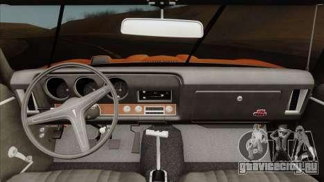 Pontiac GTO The Judge Hardtop Coupe 1969 для GTA San Andreas вид справа