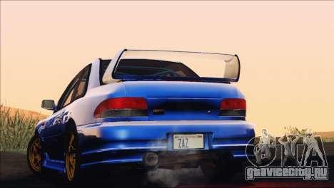 Subaru Impreza 22B STi 1998 для GTA San Andreas вид снизу