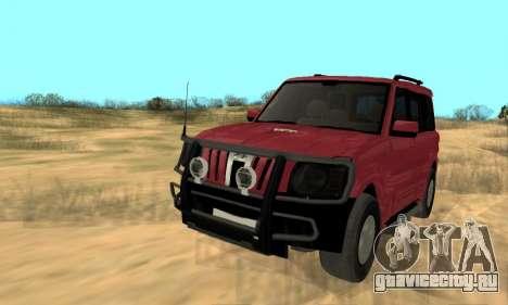 Mahindra Scorpio для GTA San Andreas вид изнутри