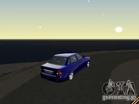 Lada 2170 Priora для GTA San Andreas вид справа