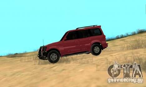 Mahindra Scorpio для GTA San Andreas вид сзади слева
