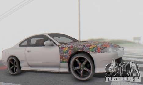 Nissan Silvia S15 Metal Style для GTA San Andreas вид изнутри
