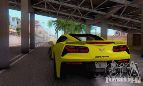 Chevrolet Corvette Stingray C7 2014 для GTA San Andreas вид сбоку